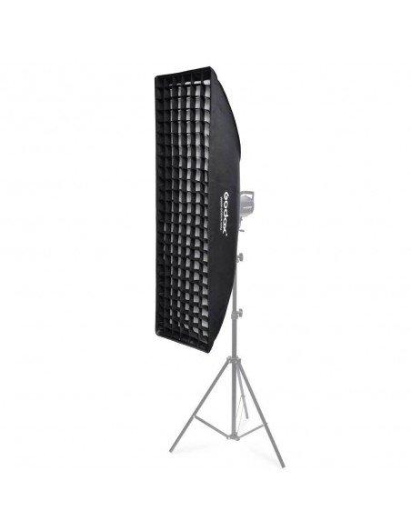 Ventana Strip Godox Premium 30x120cm con GRID y adaptador Bowens