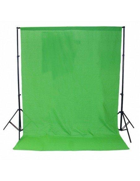 Fondo de estudio de tela verde cromakey 2x3 mts