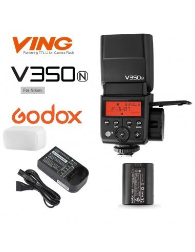 Flash Godox V350N wireless 2.4Ghz para Nikon