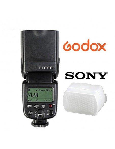 Flash Godox TT600S HSS Gn60 para Sony MI con receptor 2.4Ghz. Gratis difusor