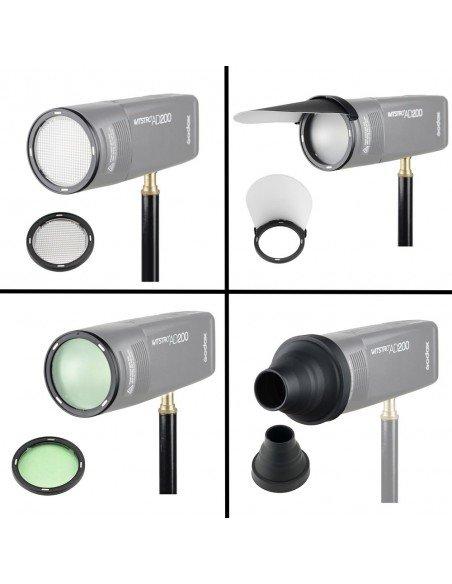 Kit accesorios para cabezal redondo del Godox AD200