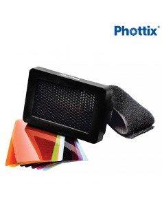 Kit Phottix Nido de abeja y Geles de color para flash de zapata