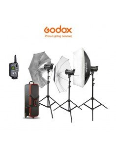 Kit completo 3 flashes Godox DS400II