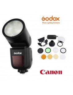 Kit Godox V1 Canon con accesorios