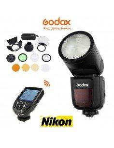 Kit Godox V1 Nikon, XPro y accesorios