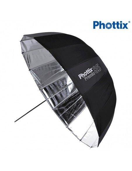Paraguas Deep Plata Phottix Premio 85cm