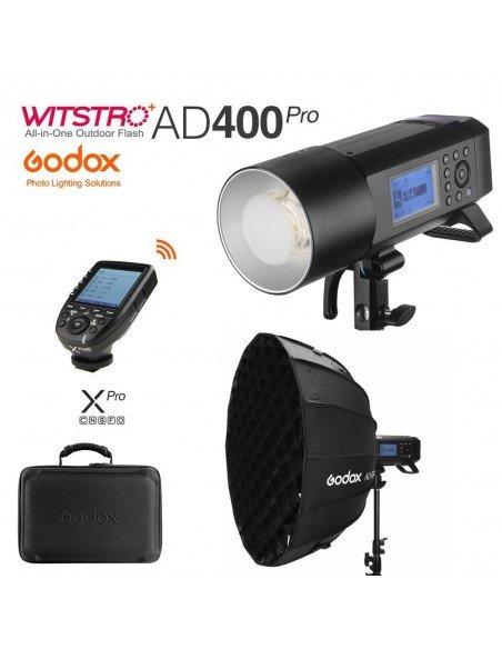 Kit Godox AD400 Pro con transmisor XPro y Softbox