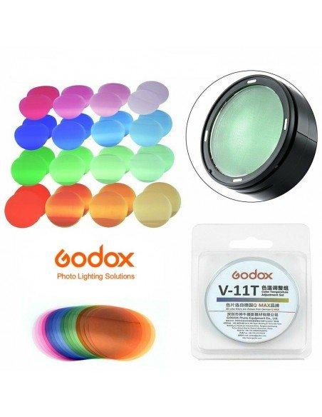 Kit filtros Godox SA-11T para control y equilibrio de la luz