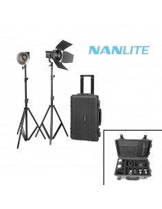 Kit 2 x Nanlite Forza 60 + Adaptadores baterías