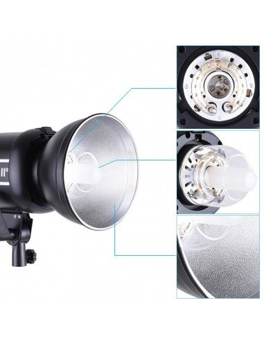Anillo adaptador Softbox Phottix Hexa-Para a flashes estudio Bowens