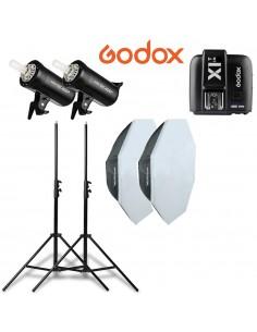 Kit 2 Flashes Godox SK400II...