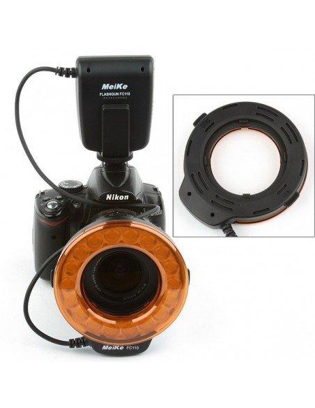 Flash anular Meike FC-110 para Nikon anillo macro