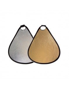 Reflector triangular Plata-Dorado 60cm con asa