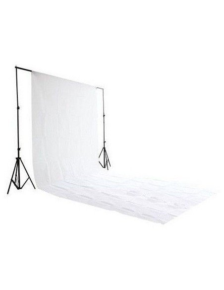 Fondo de estudio de tela super blanco 3x6 mts