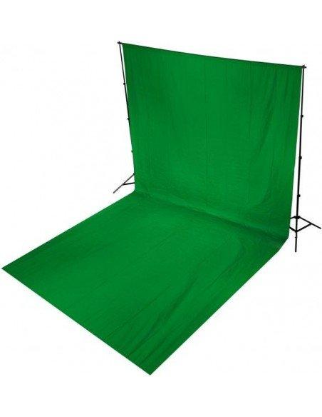 Fondo de estudio de tela verde cromakey 3x6 mts