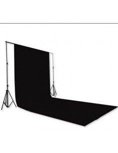 Fondo de estudio de tela super negro 3x6 mts
