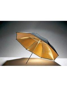 Paraguas dorado-negro 84cm