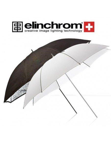 Set Paraguas plata granulado y paraguas difusor Portalite Elinchrom 85cm