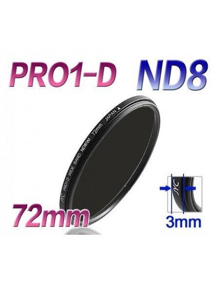 FILTRO JYC ND8 PRO 1D Ultra Slim 72 mm