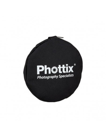 Reflector plegable Phottix premium 5 en 1 con asas 80cm