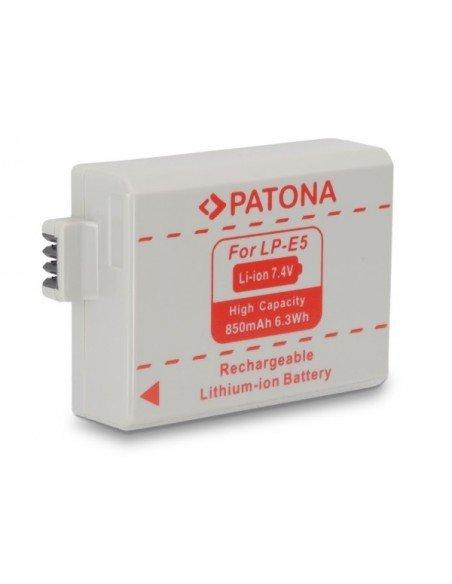 Batería Patona LP-E5 Infochip para Canon Eos 450D 500D 1000D