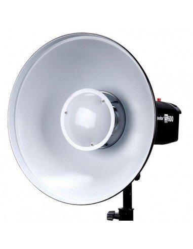 Beauty Dish Godox 55cm interior plateado