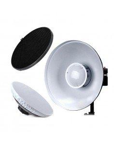 Beauty Dish Godox 42cm blanco con panal y difusor para Bowens