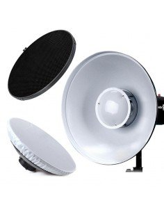 Beauty Dish Godox 55cm blanco con panal y difusor para Bowens