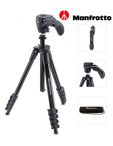 Trípode Manfrotto Compact Action - Negro