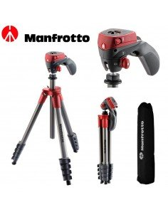 Trípode Manfrotto Compact Action - Rojo