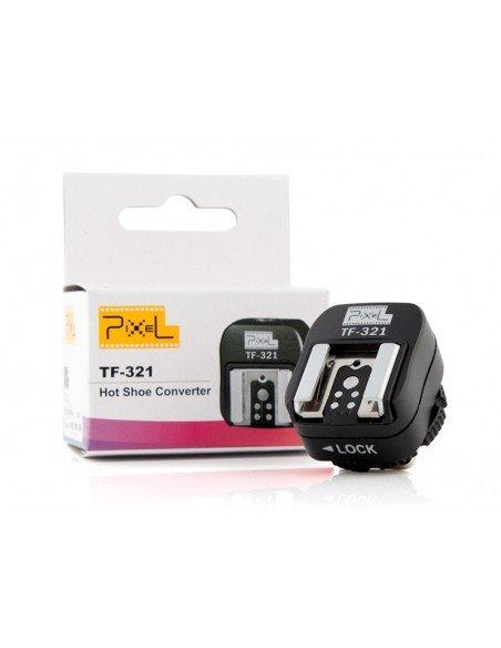 Adaptador flash Pixel TF-321 con toma Sincro para Canon