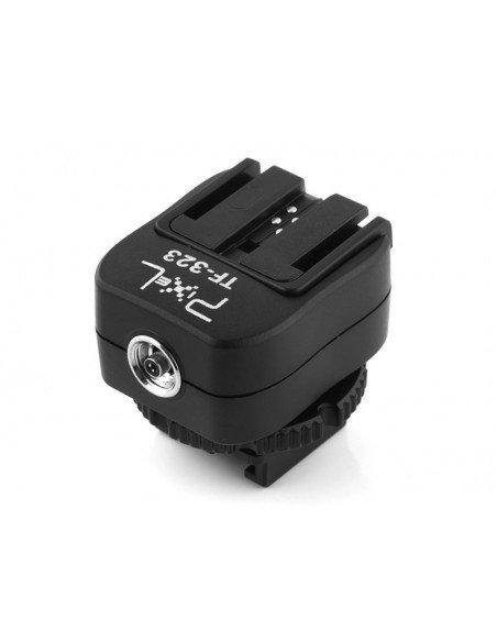 Adaptador flash Pixel TF-323 con toma Sincro para Sony