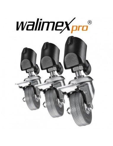 Sistema de ruedas Walimex para pies de estudio