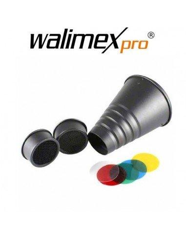 Set Spot/Snoot con filtros de color Walimex Pro para Aurora/Bowens