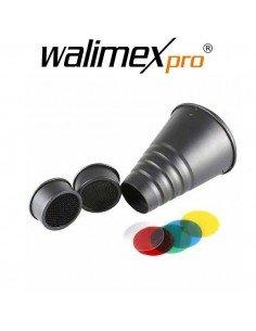 Set Spot/Snoot con filtros de color Walimex Pro Universal para Profoto