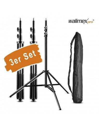 Set 3 pies Walimex WT-806 256cm con fundas