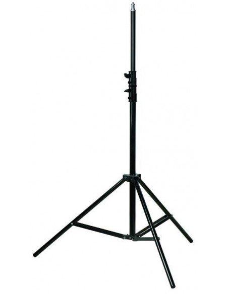 Kit Strobist pie estudio 200cm, paraguas plata-negro 84cm, soporte tipo B