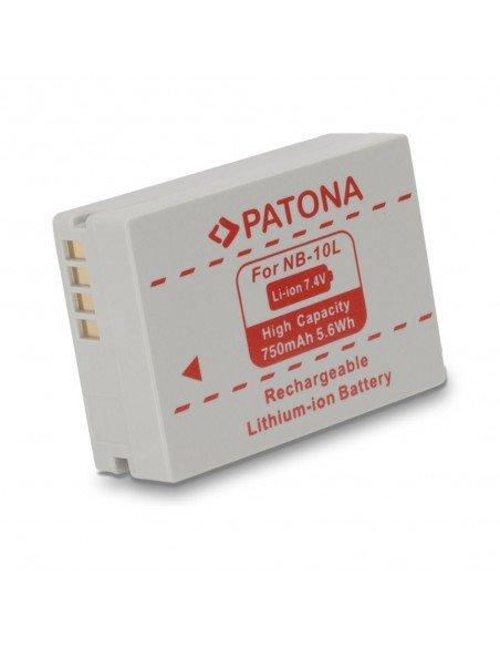 Batería Patona NB-10L infochip para Canon SX40 HS, SX50 HS, SX60 HS, G1X, G15, G16