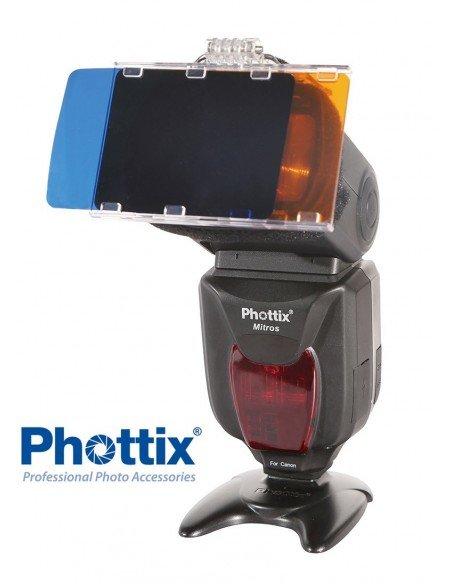Set Phottix de 30 filtros de color en gel para flash de zapata