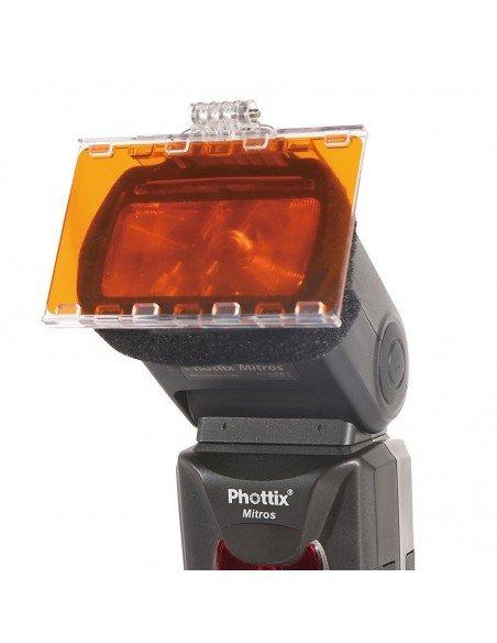 Set de filtros Phottix de color en gel para flash de zapata