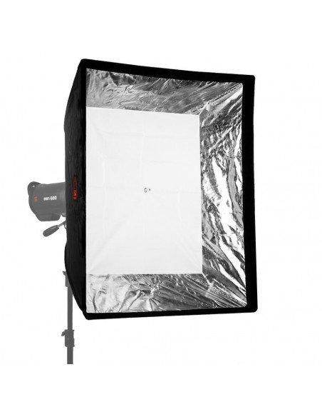 Paraguas reflector Phottix, interior blanco, exterior negro 101cm