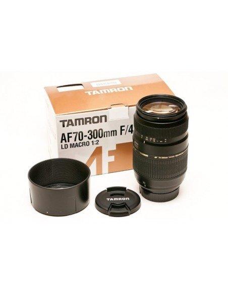 TAMRON AF 70-300mm F4-5.6 DI MACRO para NIKON motor de enfoque+UV 62mm