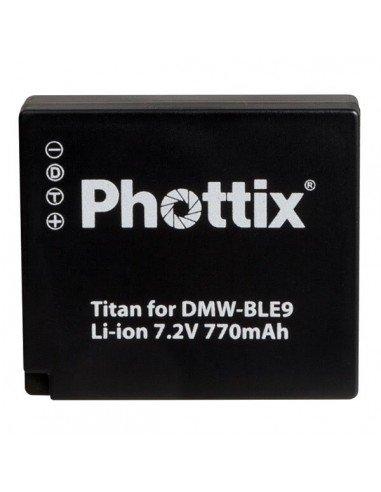 Batería Phottix Titan DMW-BLE9 para Panasonic DMCS6
