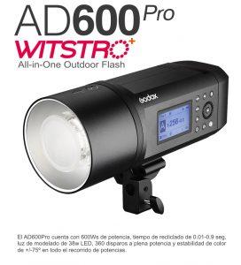 Godox AD600Pro, el flash autónomo todo en uno.